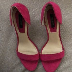 Hot Pink Zara Basic Open-Toe Pumps